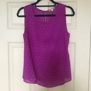 Sheer Geometric Cutout Tank Top